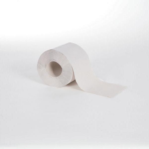 64 Rollen Toilettenpapier 1-lagig VORTEILSGRÖSSE, hell, Einzelrollen, 64 Rollen/Sack