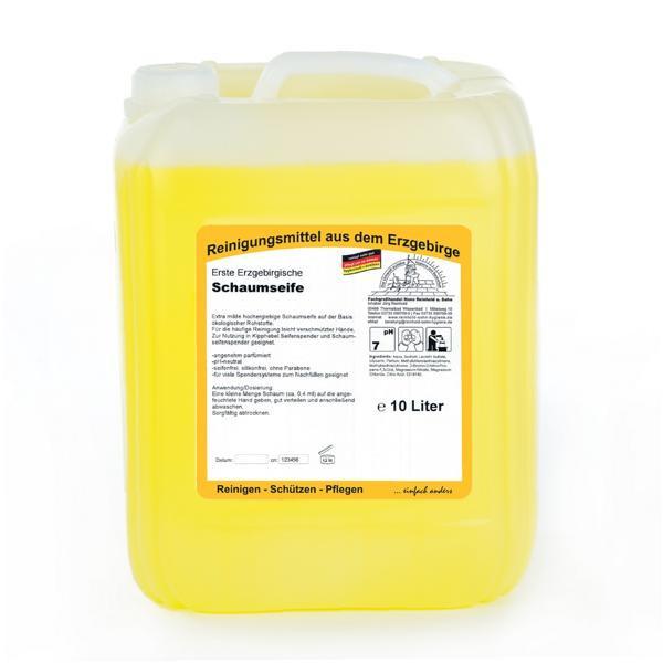 10 Liter Erste Erzgebirgische Schaumseife | extra milde, hochergiebige Schaumseife