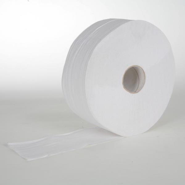6 Rollen Toilettenpapier á 300 m 2-lagig, MAXI-Rolle T-75 weiß, perforiert, 6 Rollen/Sack