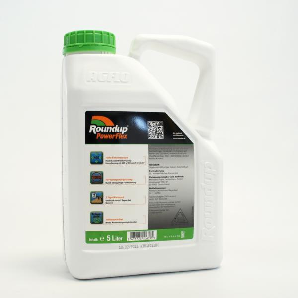 Unkrautvernichter Roundup PowerFlex | 5 Liter | BIOZIDE SICHER VERWENDEN! Vor Gebrauch stets Kennzei