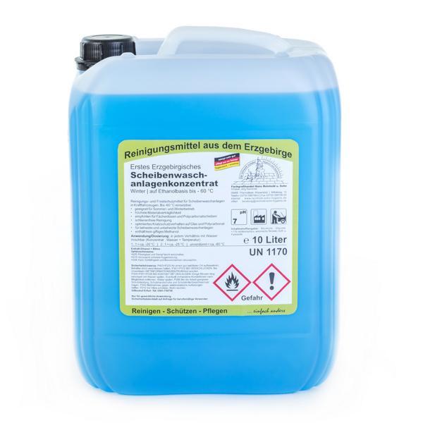 10 Liter Erstes Erzgebirgisches Scheibenwaschanlagenkonzentrat Winter, bis -60°C