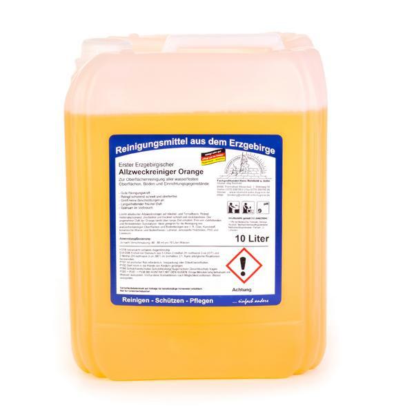 10 Liter Erster Erzgebirgischer Allzweckreiniger Orange | für alle wasserfesten Oberflächen