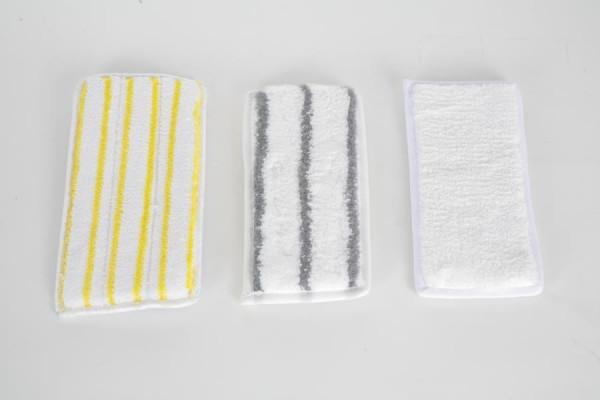 Handpad/Mikrofaserpad 13 x 27 cm | weiß mit gelben Borstenstreifen