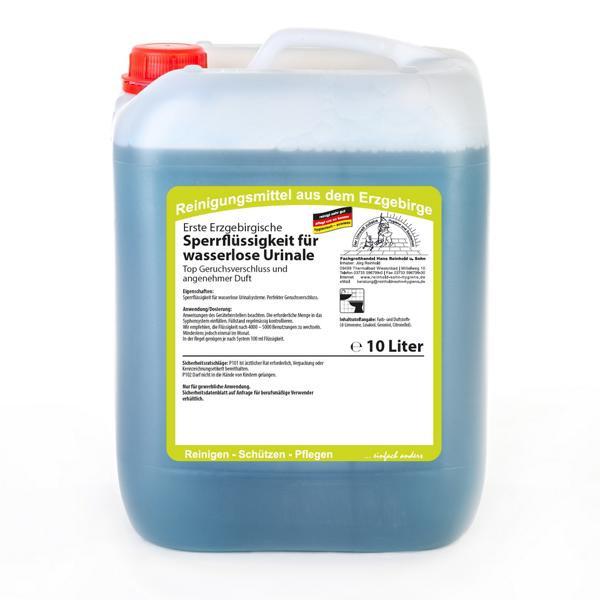 10 Liter Erste Erzgebirgische Sperrflüssigkeit für wasserlose Urinale | Angenehmer Duft