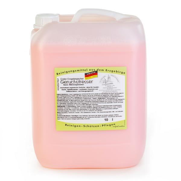10 Liter Erster Erzgebirgischer Geruchsfresser | Konzentrat, Basis: Mikroorganismen