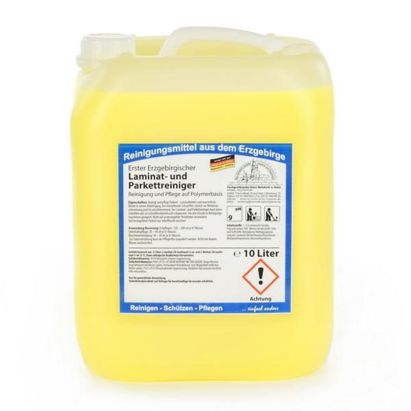 10 Liter Erster Erzgebirgischer Laminat- und Parkettreiniger | Reinigung & Pflege auf Polymerbasis