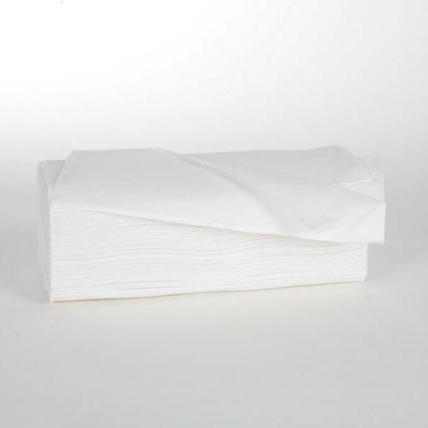 Papierhandtücher 2-lagig   25 x 23 cm   Zick-Zack-Falz   hochweiß   3.200 Blatt/Karton