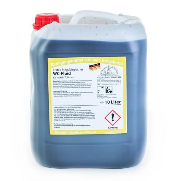 10 Liter Erstes Erzgebirgisches WC-Fluid GERUCHSSTOP | Kombi-Produkt für mobile Toiletten