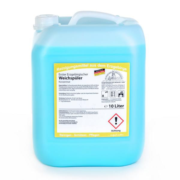 10 Liter Erster Erzgebirgischer Weichspüler | Weichspülpflege für die gesamte Wäsche