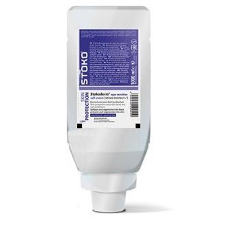 Stokoderm® aqua [Stoko PROTECT+®] | 1 Liter Faltflasche | Hautschutzcreme
