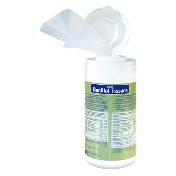 Bacillol® Tissues, Flächen-Desinfektionstücher Spender-Dose mit 100 Tüchern | gebrauchsfertig