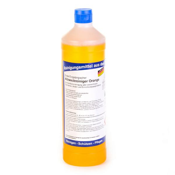 1 Liter Erster Erzgebirgischer Allzweckreiniger Orange   für alle wasserfesten Oberflächen