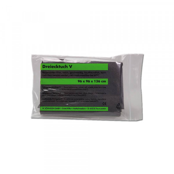 Söhngen® Dreiecktuch-V, 96 x 96 x 136 cm   schwarz   nach DIN 13168