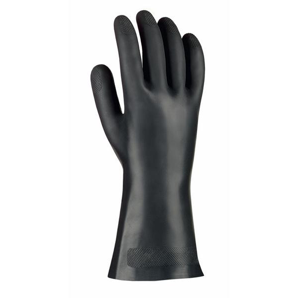 1 Paar Chemikalienschutzhandschuhe aus Neopren, schwarz, ca. 30 cm lang | Größen: 8 - 10
