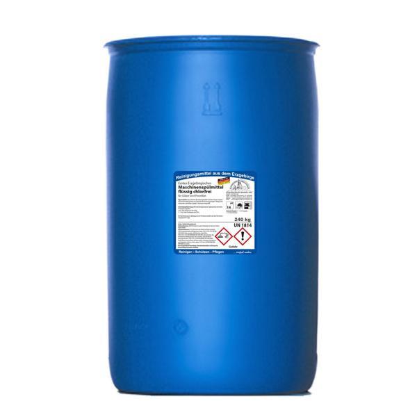 240 kg Erstes Erzgebirgisches Maschinenspülmittel flüssig chlorfrei | für Gläser und Porzellan