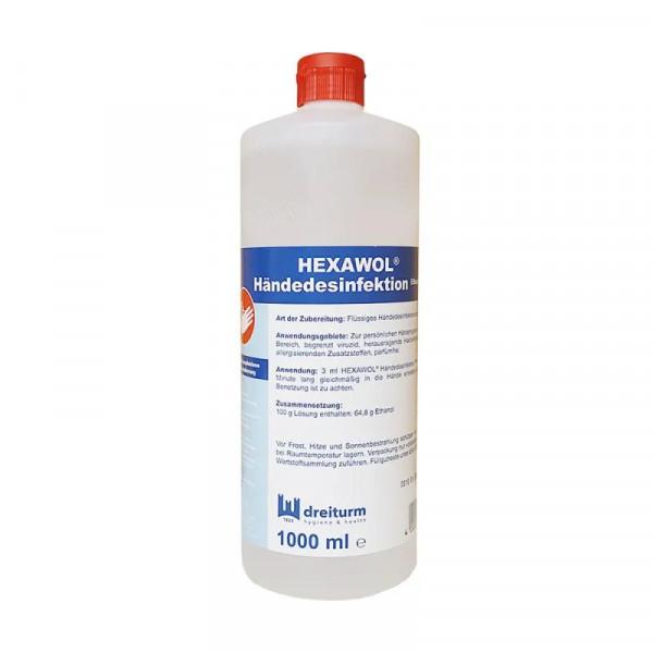 Dreiturm Hexawol® Händedesinfektion Ethanol | 1000 ml | begrenzt viruzid