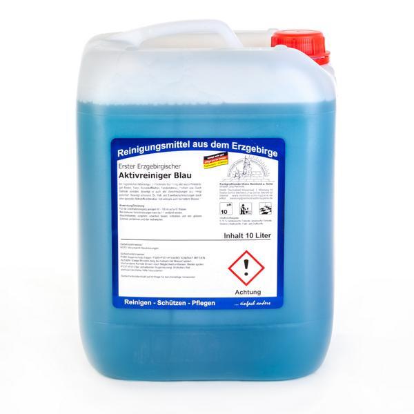 10 Liter Erster Erzgebirgischer Aktivreiniger Blau | Salmiak verstärkter, hygienischer Aktivreiniger