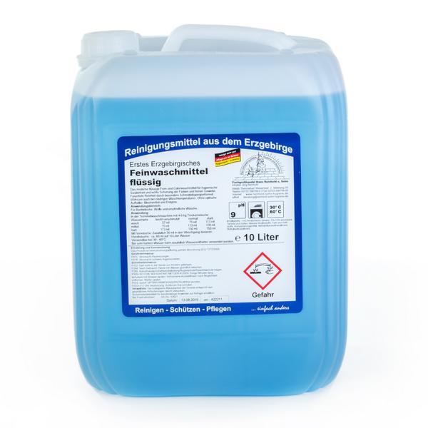 10 Liter Erstes Erzgebirgisches Feinwaschmittel flüssig | hochkonzentriertes Feinwaschmittel