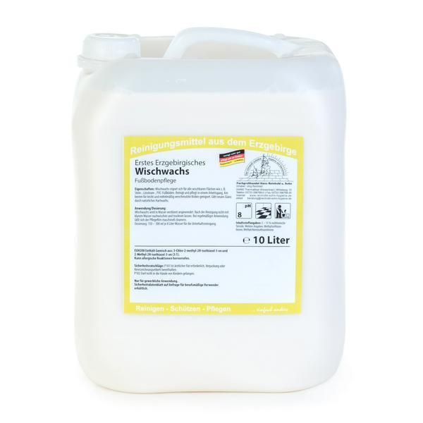 10 Liter Erstes Erzgebirgisches Wischwachs | Reinigung und Pflege für leicht verschmutzte Böden
