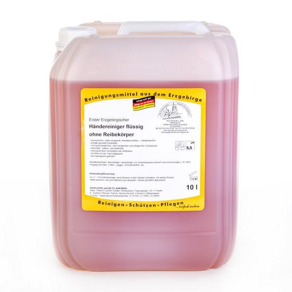 10 Liter Erster Erzgebirgischer Händereiniger flüssig ohne Reibekörper | mild & hautschonend