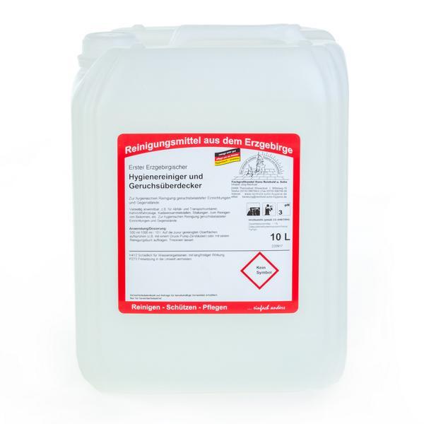 10 Liter Erster Erzgebirgischer Hygienereiniger und Geruchsüberdecker | zur hygienischen Reinigung