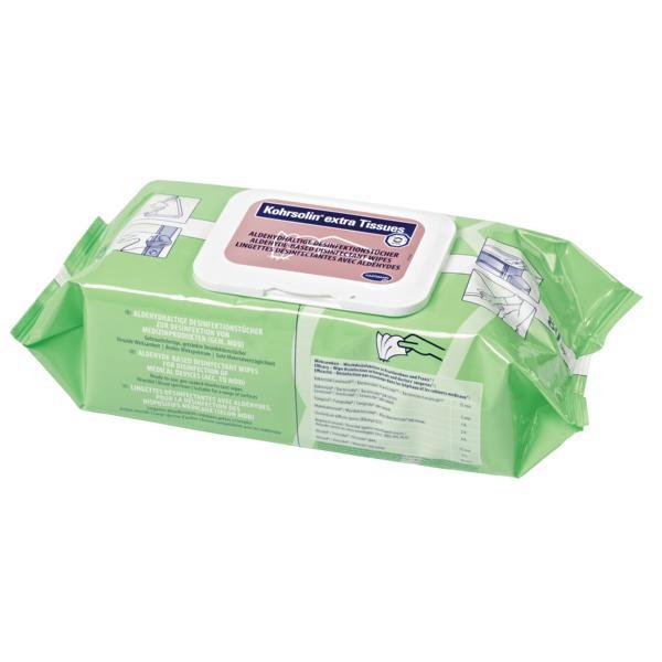 80 Tücher Kohrsolin® extra Tissue | aldehydhaltige Desinfektionstücher