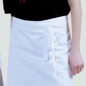 Kochschürze/Vorbinder/Vorstecker, ca 45 x 80 cm, weiß 100% Baumwolle
