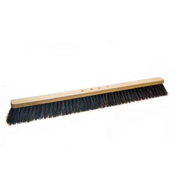 Arengasaalbesen 80 cm, Körper: Holz unlackiert, Borsten: Arenga, 4-Loch-System