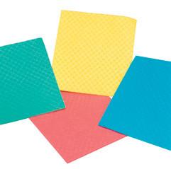 10 Stück/Packung Spültuch/Wischtuch/Schwammtuch 18 x 20 cm, weich, Farben: blau, gelb, grün, rot