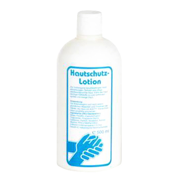 500 ml Rundflasche Hautschutzlotion | Hautschutz gegen wässrige Arbeitsstoffe