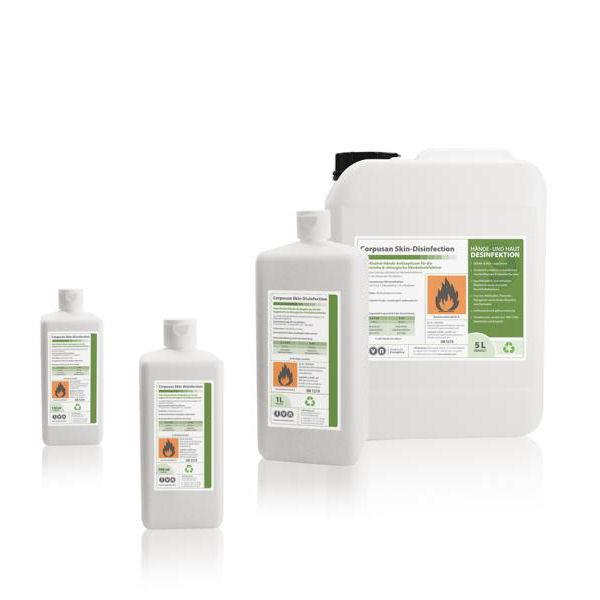 1000 ml IVN Corpusan Skindisinfection | alkoholische Händedesinfektion,VAH-Listung, EN 1500
