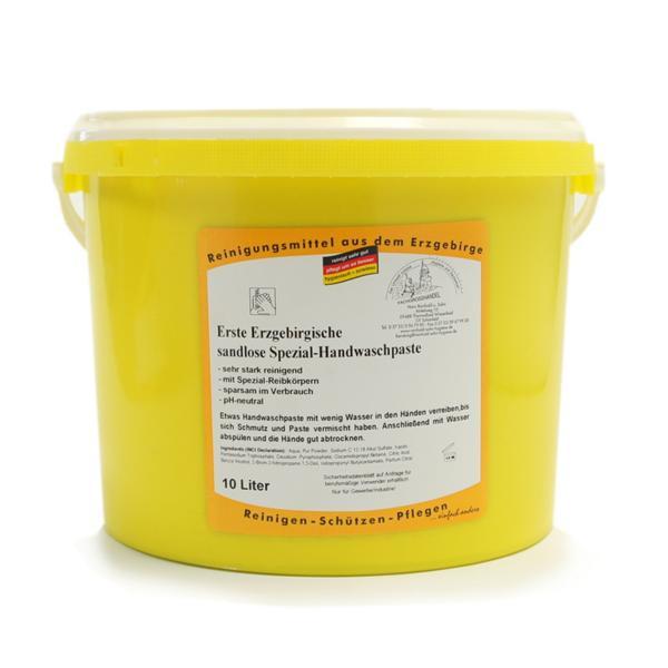 10 Liter Erste Erzgebirgische Handwaschpaste Spezial sandlos | mit Kunststoffreibekörpern