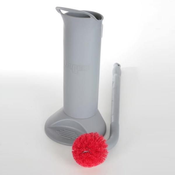 WC-Garnitur, professionelle ERGO Toilettenbürste (66 cm) komplett mit Halter, BBWHR | Profibürste