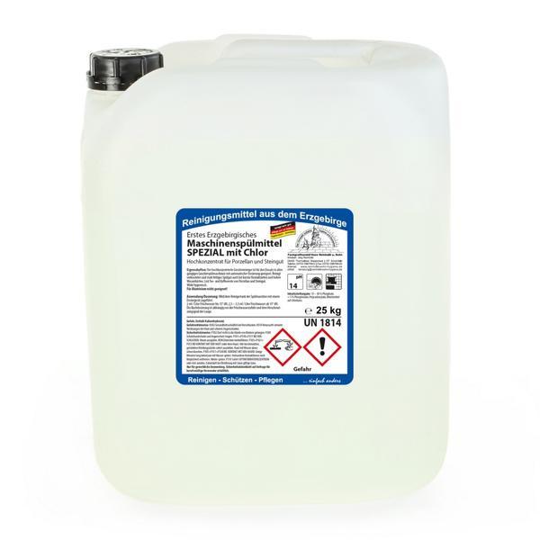 25 kg Erstes Erzgebirgisches Maschinenspülmittel SPEZIAL mit Chlor für Porzellan und Steingut