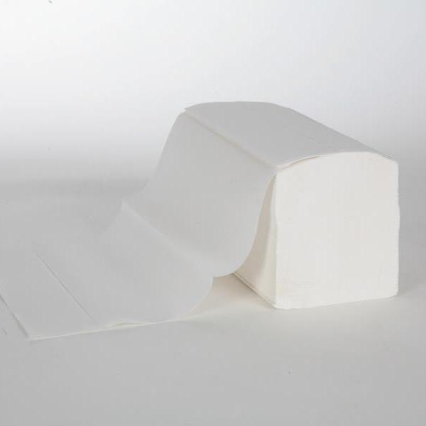 1 Karton Papierhandtücher 2-lagig, VORTEILSPACK 3.200 Blatt/Karton, 22,0x32,0cm, Interfold, weiß