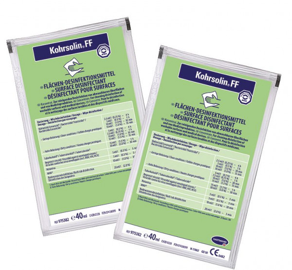 125 Stück Kohrsolin® FF 40 ml-Dosierbeutel | Flächendesinfektionsmittel