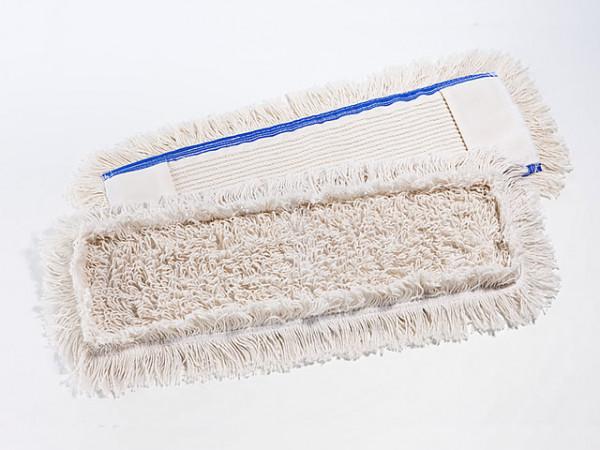 Spezialmopp 50 cm, Baumwoll-Mopp, innen Schlingen, außen Fransen | Aufnahme: Tasche