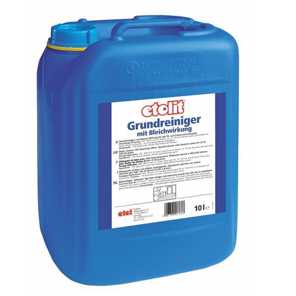 10 Liter etolit® Grundreiniger mit Bleichwirkung | Spezialreiniger Intensiv-Wirkung gegen Fett & Öl