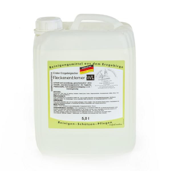5 Liter Erster Erzgebirgischer Fleckenentferner WL   für wasserlösliche Flecken, gebrauchsfertig
