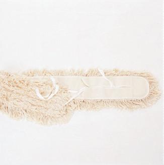 80 cm Feuchtwischmopp mit Bändern und Tasche | 100% Baumwolle, Aufnahme: Bänder