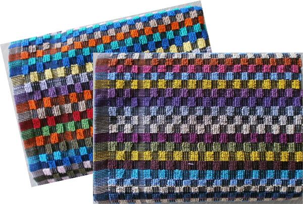 Grubenfrottierhandtuch Baumwolle, Karo-Muster bunt, 50 x 90 cm, /310g/m² | 100% Baumwolle