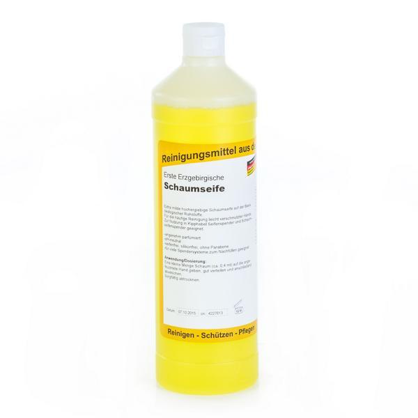 1 Liter Erste Erzgebirgische Schaumseife | extra milde, hochergiebige Schaumseife
