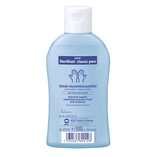 100 ml Sterillium® classic pure Händedesinfektion farbstoff- und parfümfrei