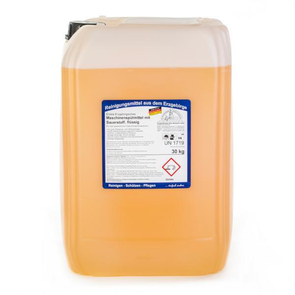 30 kg Erstes Erzgebirgisches Maschinenspülmittel mit Sauerstoff, flüssig, hochalkalisch