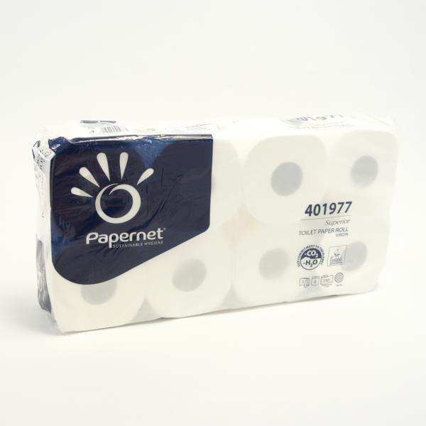Papernet® Toilettenpapier 3-lagig | 250 Blatt/Rolle | 64 Rollen/Sack