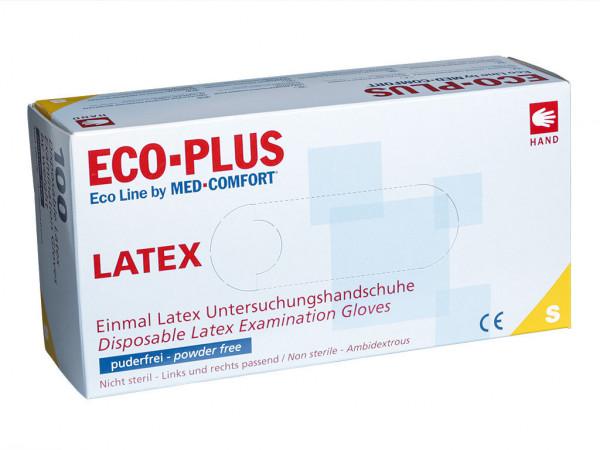 ECO-PLUS Latex Einmalhandschuhe | natur | 100 Stück/Box
