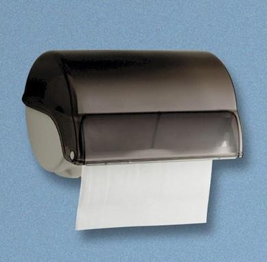 "Rollenhandtuchspender ""Allzweck"" manueller Papiertransport | weiß/grau-transparent"