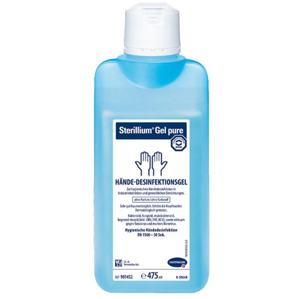 Sterillium® Gel pure | alkoholisches Gel zur hygienischen Händedesinfektion | 475 ml