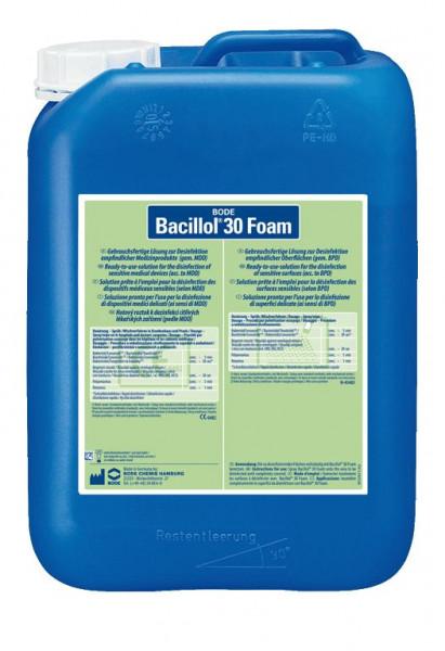 5 Liter Bacillol® 30 Foam | aldehydfreie, alkoholische Oberflächen-Schnell-Desinfektion