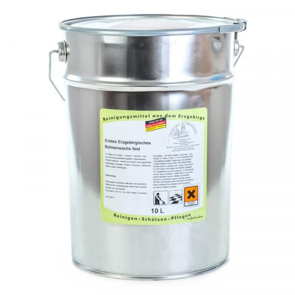 10 Liter Erstes Erzgebirgisches Bohnerwachs fest | zur Reinigung und Pflege gewachster Böden